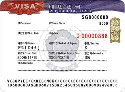 Thông tin cần biết về các loại Visa Hàn